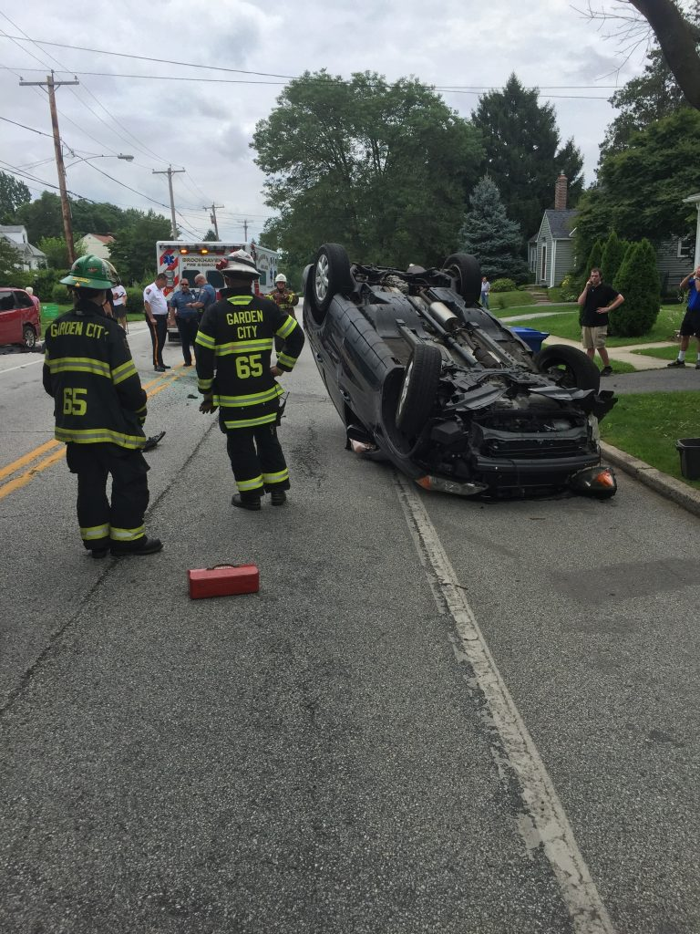 ONE OVERTURNED ON CHESTNUT PARKWAY