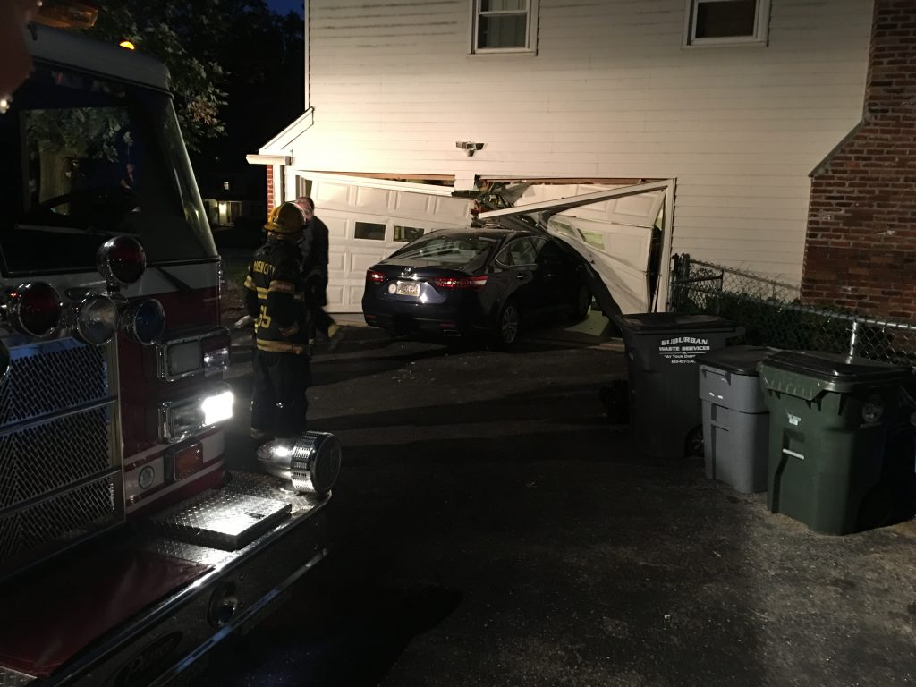 VEHICLE INTO THE BUILDING ON BERKSHIRE DR