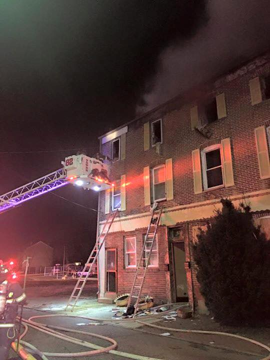 BUILDING FIRE WITH ENTRAPMENT IN CHESTER