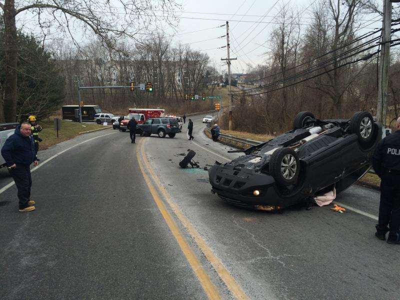 ONE OVERTURNED ON BROOKHAVEN ROAD