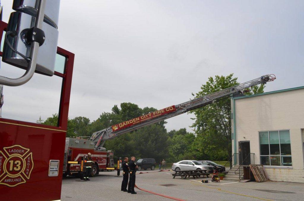 WORKING FIRE IN ASTON TWP