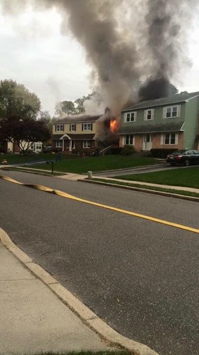 WORKING FIRE IN ASTON TWP