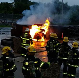 VEHICLE FIRE TRAINING WITH THE JUNIOR FIREFIGHTERS
